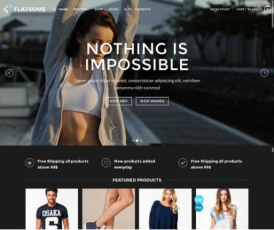 Mẫu theme Flatsome sport-shop website wordpress