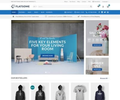Mẫu web theme Flatsome mega shop wordpress Fs-mega-15