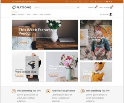 Mẫu web theme wordpress Flatsome Fs-vendor-shop-hmp-17