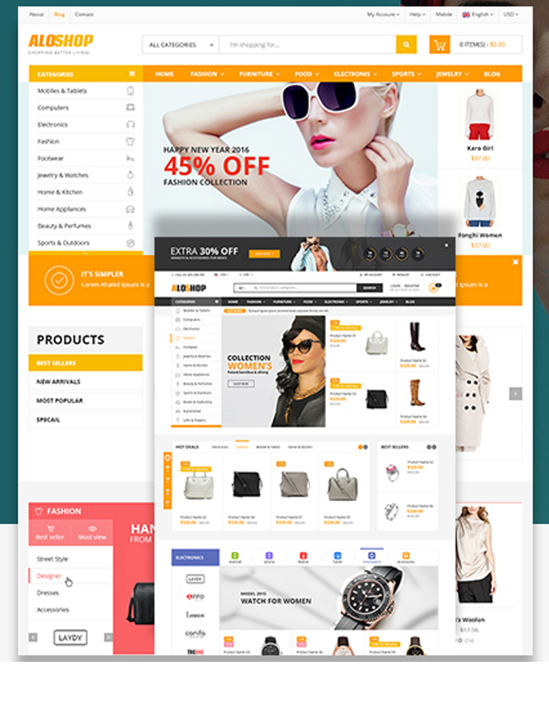 Mẫu Theme AloShop Wordpress mã Aloshop-default-1