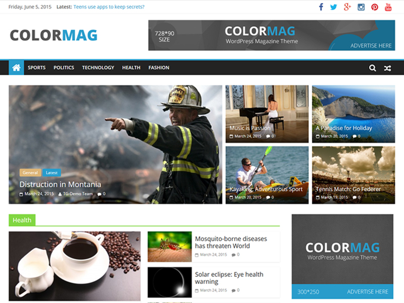 Mẫu website wordpress Theme colormag-1